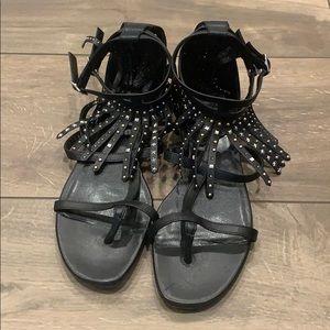 Saint Laurent Fringe Sandals